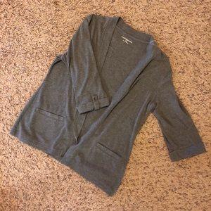 Croft & Barrow gray open sweater